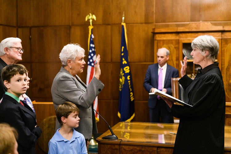 Bev Clarno Swearing In As Secretary of State