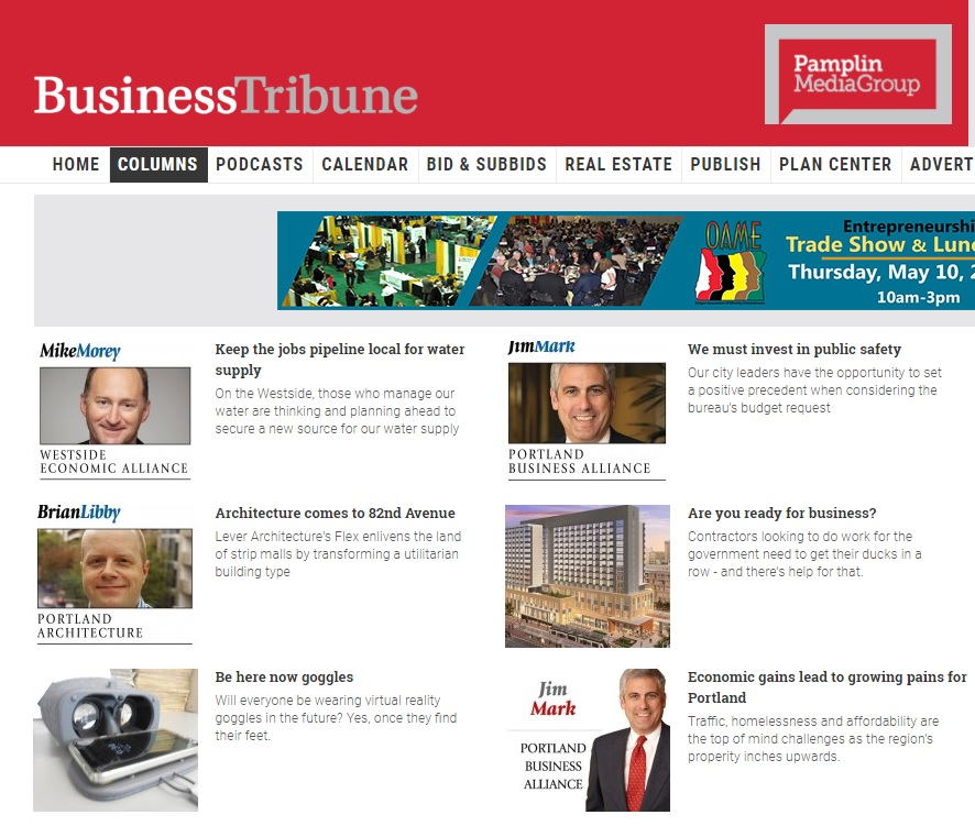 Business Tribune Header