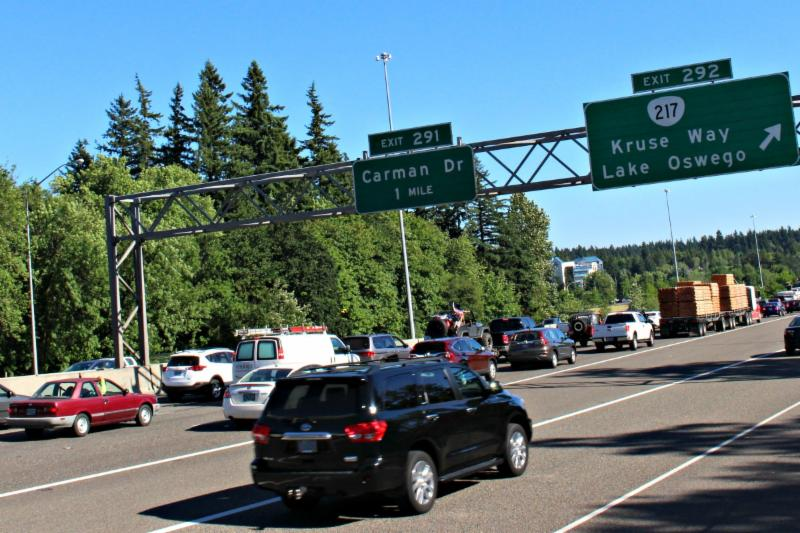 Freeway traffic at I5 217 junction