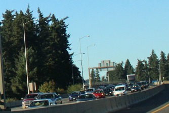 Interstate 5 Southbound traffic