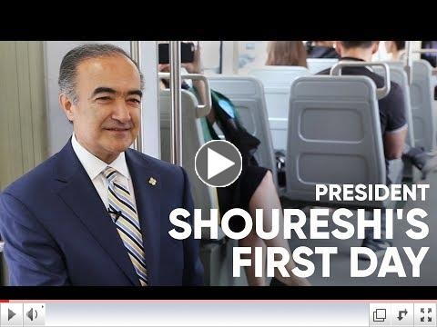 President Shoureshi First Day