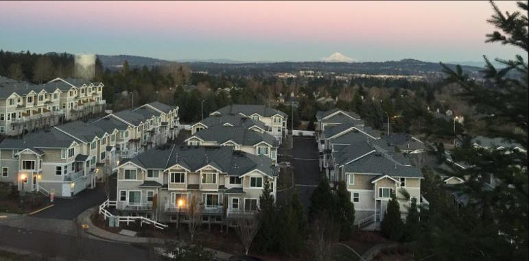 Sexton Mountain Housing Looking East To Mt Hood At Sunset